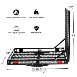 Wheelchair Carrier Strong Hitch Cargo Trailer Mobil Scooter Access Load Ramp