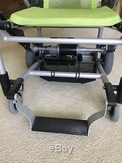 Zinger Zingerchair green lightweight folding electric mobility chair
