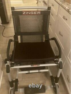 Zinger electric wheelchair Mobility lightweight folding scooter EUC Black