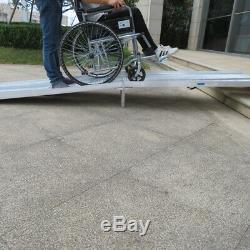10 Ft Aluminium Rampe Pliable Fauteuil Roulant Scooter Mobilité Anti-slip Portable Nouveau