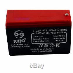 12v 14ah 6-dzm-12 Batterie Mobilité Électrique Scooter Fauteuil Roulant Goft Panier