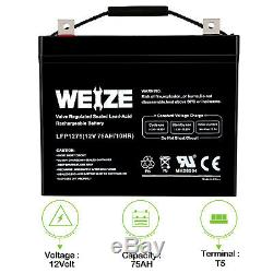 12v 75ah Sla Cycle Profond Agm Batterie Pour Fauteuil Roulant Scooter Voiturette Électrique DC