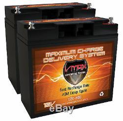 2 Batteries Vmax600 Moitié U1 12v 20ah Agm Vrla Pour Scooter Électrique Ou Fauteuil Roulant