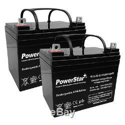 (2) Powerstar Remplacement 12v 35ah U1 Électriques Batteries Fauteuil Roulant Scooter