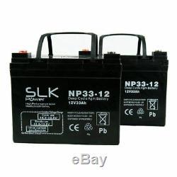 2 X (12v) 33ah Scooter Fauteuil Roulant Électrique Batteries Agm