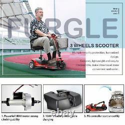 3 Roues Mobilité Du Scooter Électrique Alimenté En Fauteuil Roulant Électrique Voyage, Âgé