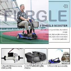 3 Roues Scooter Électrique Alimenté L'appareil En Fauteuil Roulant Compact Pour Voyage