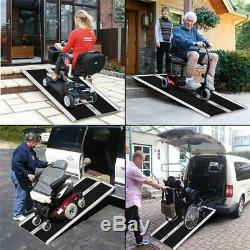 4' Aluminium Pliant Chargement En Fauteuil Roulant Scooter Mobility Rampe Antidérapante Portable