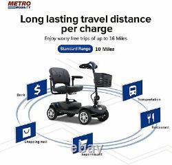 4 Roue Pliante Scooter De Mobilité En Fauteuil Roulant Electric Powered Travel Elder 4.9mph