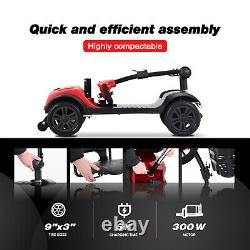 4 Roues De Mobilité Scooter Powered Fauteuil Roulant Électrique Device Compact Pour Les Aînés