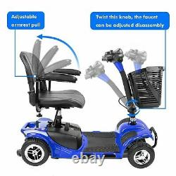 4 Roues Power Mobility Scooter Wheel Chair Electric Device Compact For Travel