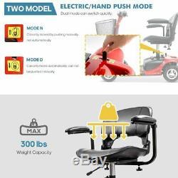 4 Roues Scooter Électrique Mobile Power Fauteuil Roulant Pliant Compact