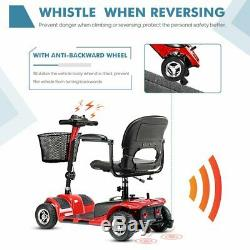 4 Roues Scooter Électrique Mobile Power Fauteuil Roulant Pour Les Personnes Âgées Adultes Red