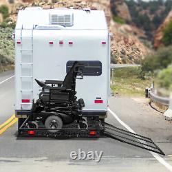 500lbs Strong Fauteuil Roulant Hitch Carrier Mobilité Scooter Électrique Chargement Ramp
