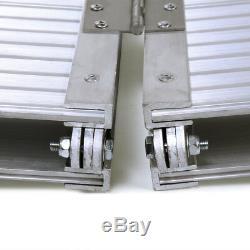 6' Aluminium Rampe De Chargement Pliable Fauteuil Roulant Scooter Mobility Antidérapante Portable