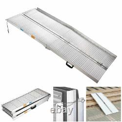 6ft Aluminium Wheelchair Ramp Folding Mobility Suitcase Threshold Scooter Carrier