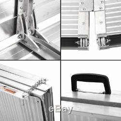 7' Aluminium Repliable Pour Fauteuil Portable Rampe Mobilité Antidérapante Porte-scooter
