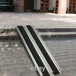 7' Telescoping Ramps Aluminium Chargement Pet Seuils En Fauteuil Roulant Scooter De Mobilité