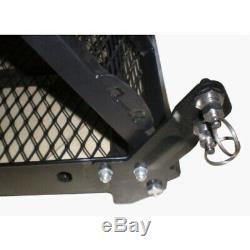 Aleko Fauteuil Roulant Électrique Scooter Pliant Porte-bagages Porte-bagages Pliable Rampe 500lb