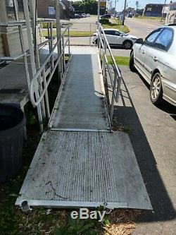 Aluminium Scooter Fauteuil Roulant Handicap Rampe, 20' Rampe, Avec 3 Plate-forme, Pick Up Seulement