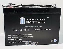 Deux 12v 100ah Batteries Gel Pour Les Scooters, Chaises Électriques, Voiturettes De Golf, Etc.
