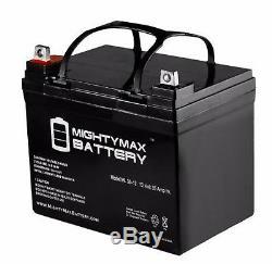 Deux 12v 35ah U1 Batteries Gel Pour Les Scooters, Chaises Électriques, Chariots De Golf, Etc.
