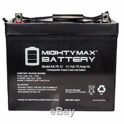 Deux 12v 75ah Grp 24 Batteries Gel Pour Les Scooters, Chaises Électriques, Voiturettes De Golf, Etc.