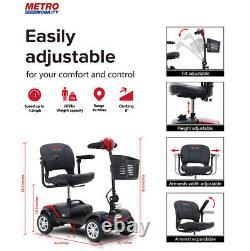Dispositif De Pliage D'énergie Électrique Scooter 4wheel Compact Scooter Wheelchair