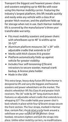 Fauteuil Motorisé Et Trottinette Électrique Extra-large Harmar Al301xl