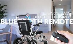 Fauteuil Roulant D'alimentation Électrique De Pli Et De Voyage Avec Fauteuil Roulant De Scooter De Télécommande