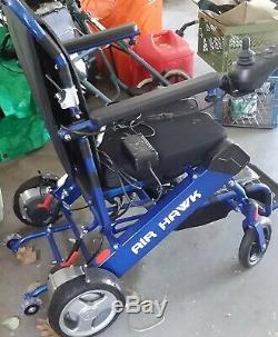 Fauteuil Roulant De Scooter Électrique De Puissance De Fauteuil Roulant Électrique De Pli Léger D'air Hawk