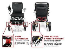 Fauteuil Roulant Motorisé Se Pliant Ultra De Luxe, Scooter De Puissance Compact Et Léger