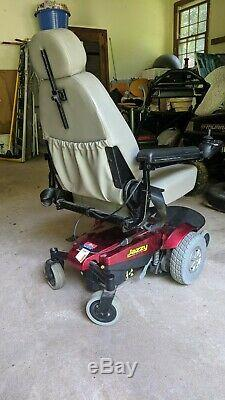 Fauteuil Roulant Pour Scooter Motorisé Jazzy Select Gt. (nouvelles Piles) Rouge