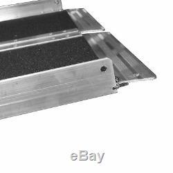 Fauteuil Roulant Rampe, Scooter Accès De Solid Surface Portable, Aluminium, Multifold, 8