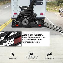 Ironmax 500lbs Fauteuil Roulant Hitch Carrier Mobilité Scooter Électrique Chargement Ramp
