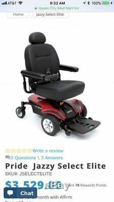 Jazzy Elite Power Chair / Scooter Électrique / And Outlander By Pride Power Lift