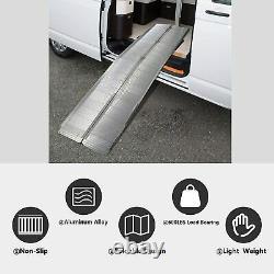 Koreyosh Folding Wheelchair Ramp Scooter Carrier Aluminium Alloy Ramp Portable