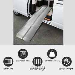 Lifedeco 10ft Alliage D'aluminium Pliable Portable Fauteuil Roulant Ramp Scooter De Mobilité