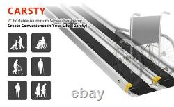 Lonabr 7ft Pliage Wheelchair Ramp Aluminium Non-slip Mobility Scooter Seuil