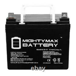 Mighty Max 2 Pack 12v 35ah Bruno Power Chair Scooter Batterie