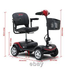 Nouveau Scooter De Mobilité Électrique 4 Roues De Voyage Scooter Électrique Alimenté En Fauteuil Roulant