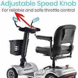 Onefun Pliage Électrique Powered Mobility Scooter 4 Wheel Wheelchair Travel Elder