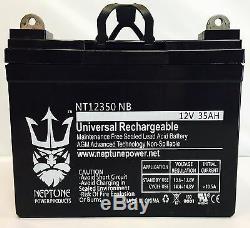 Paquet De 2 Batteries De Scooter De Fauteuil Motorisé Jazzy Select Gt 12v 35a De Neptune