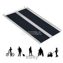 Portable Porte-bagages En Fauteuil Roulant Scooter Mobilité Rampe N-slip Pliant En Aluminium