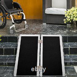 Porte-scooter De Mobilité Portable En Aluminium Pliant, 600lbs