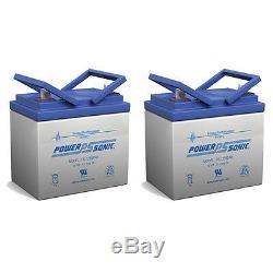 Power-sonic Paquet De 2 Batterie De Scooter De Fauteuil Motorisé Jazzy Select Gt 12v 35ah