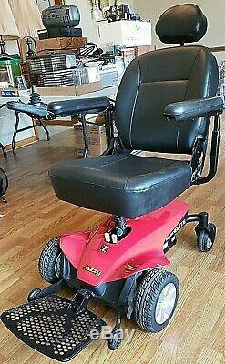 Pride Mobility Jazzy Elite Fauteuil Motorise Fauteuil Roulant Motorisé Scooter Rouge