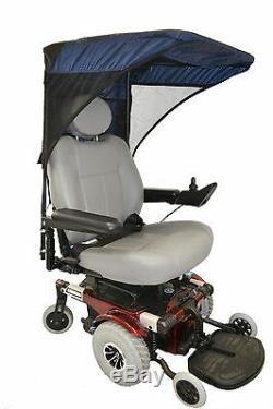 Protection Contre Le Soleil Pour Fauteuil Roulant Ou Scooter Électrique Diestco Avec Auvents De Ventilation