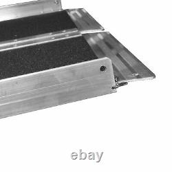 Rampe En Fauteuil Roulant, Scooter De Surface Solide Portable, Aluminium, Multiplié, 7
