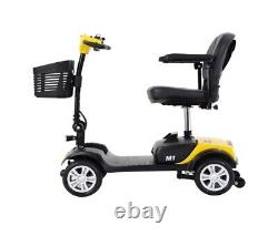 Scooter De Mobilité Électrique En Fauteuil Roulant Motorisé Compact Pour Le Voyage 4 Roues